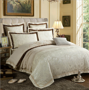 60s Hessian Satin Jacquard Four-Pieces Bedclothes Cotton Sheets Bedding 4 Sets,6 Sets,CD0008.9