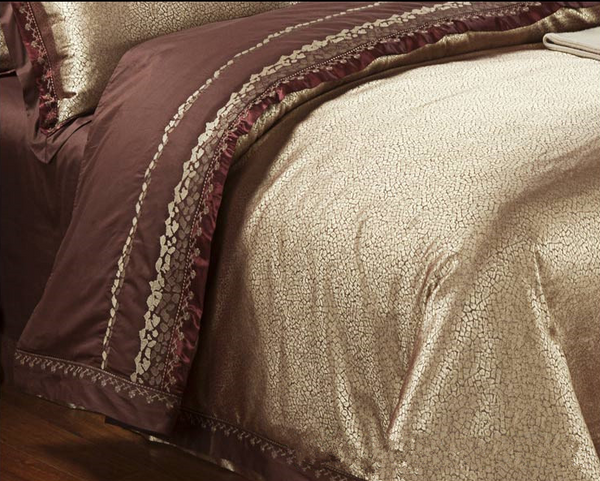 60s Hessian Satin Jacquard Four-Pieces Bedclothes Cotton Sheets Bedding 4 Sets,6 Sets,CD0008.6