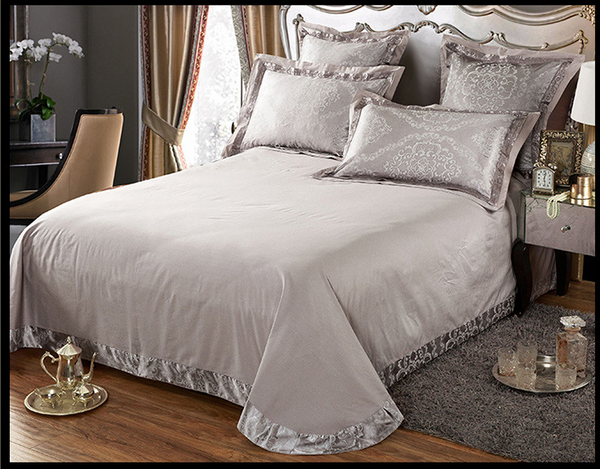 60s Hessian Satin Jacquard Four-Pieces Bedclothes Cotton Sheets Bedding 4 Sets,6 Sets,CD0008.8