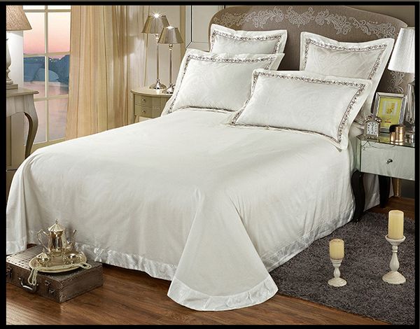 60s Hessian Satin Jacquard Four-Pieces Bedclothes Cotton Sheets Bedding 4 Sets,6 Sets,CD0008.12