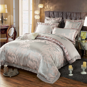 60s Hessian Satin Jacquard Four-Pieces Bedclothes Cotton Sheets Bedding 4 Sets,6 Sets,CD0008.4