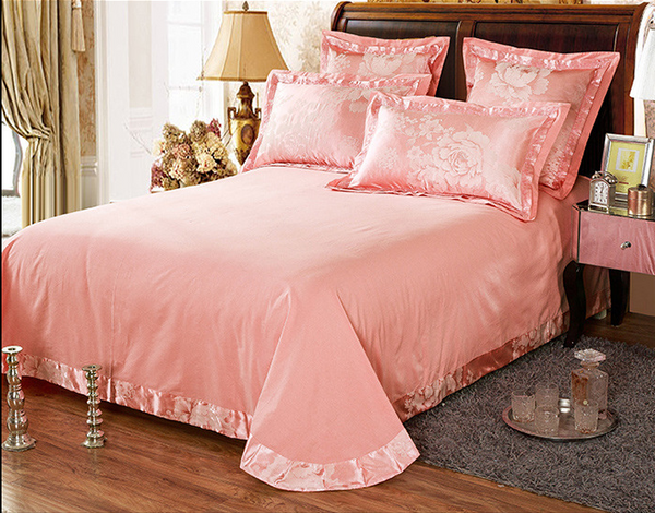 60s Hessian Satin Jacquard Four-Pieces Bedclothes Cotton Sheets Bedding 4 Sets,6 Sets,CD0008.13