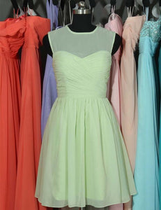 Handmade bridesmaid dress,Cheap bridesmaid dress,O-neck bridesmaid dress ,Knee-length Bridesmaid dress ,PD91