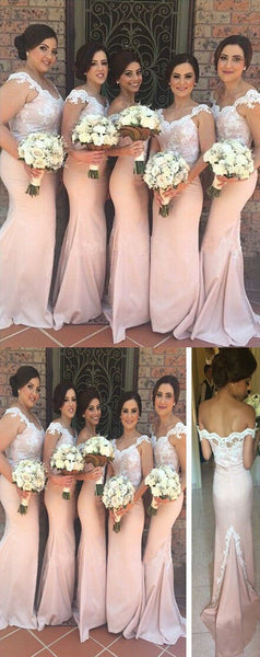 Applique Long Bridesmaid Dresses Mermaid Bridesmaid Dresses Off the Shoulder Bridesmaid Dresses