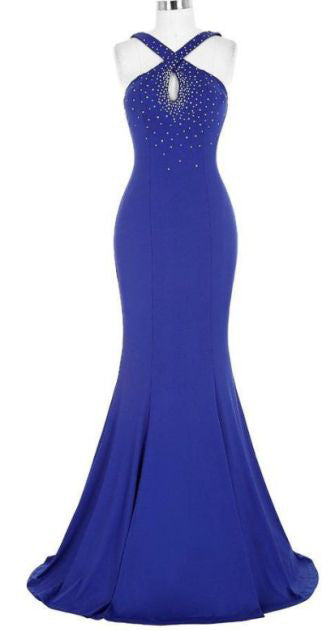 Beaded Long Bridesmaid Dresses Mermaid Bridesmaid Dresses Sleeveless Bridesmaid Dresses,MG0041
