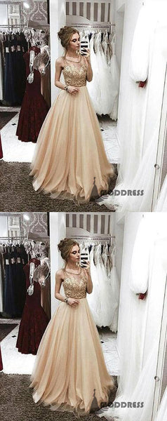 Beading Long Pprom Dresses A-Line Tulle Evening Formal Dresses,HS530