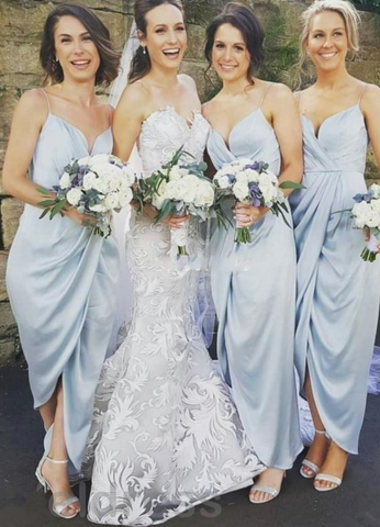 Elegant Bridesmaid Dresses V-Neck Bridesmaid Dresses Spaghetti Straps Bridesmaid Dresses