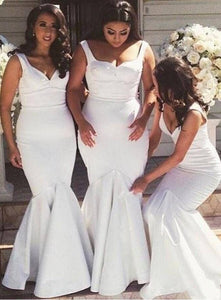 Elegant Long Bridesmaid Dresses Mermaid Bridesmaid Dresses V-Neck Bridesmaid Dresses