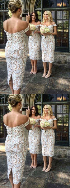 Lace Bridesmaid Dresses Off the Shoulder Bridesmaid Dresses