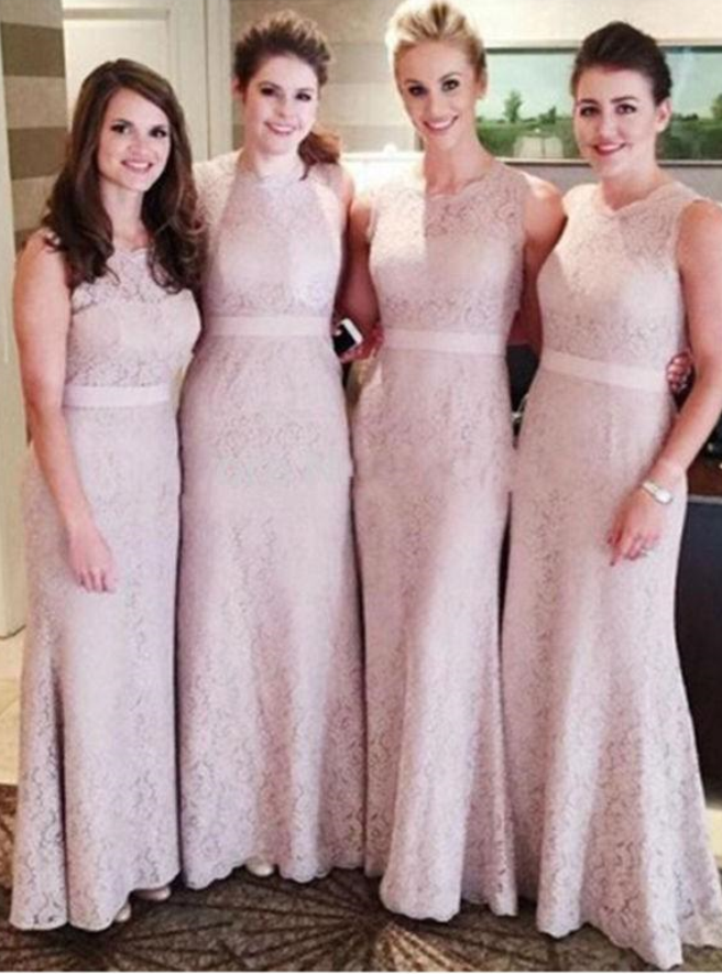 Lace Long Bridesmaid Dresses Mermaid Bridesmaid Dresses