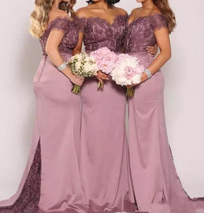Lace Long Bridesmaid Dresses Mermaid Bridesmaid Dresses Off the Shoulder Bridesmaid Dresses