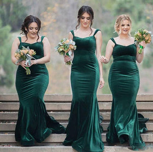 Mermaid Bridesmaid Dresses Sleeveless Long Bridesmaid Dresses Spaghetti Straps Bridesmaid Dresses