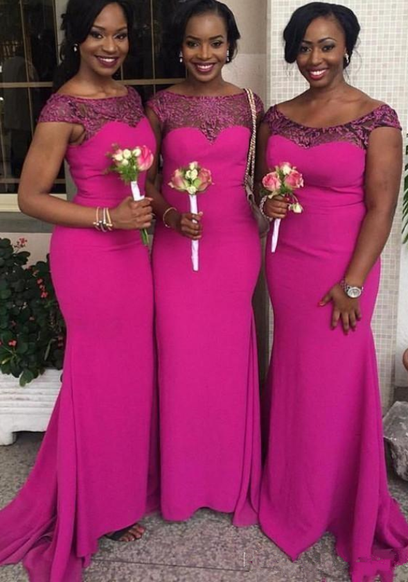 Mermaid Long Bridesmaid Dresses Cap Sleeve Bridesmaid Dresses Applique Bridesmaid Dresses