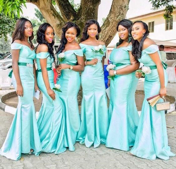 Mermaid Long Bridesmaid Dresses Off the Shoulder Bridesmaid Dresses