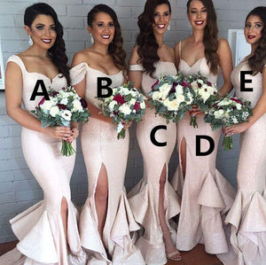 Sequins Long Bridesmaid Dresses Mermaid Bridesmaid Dresses