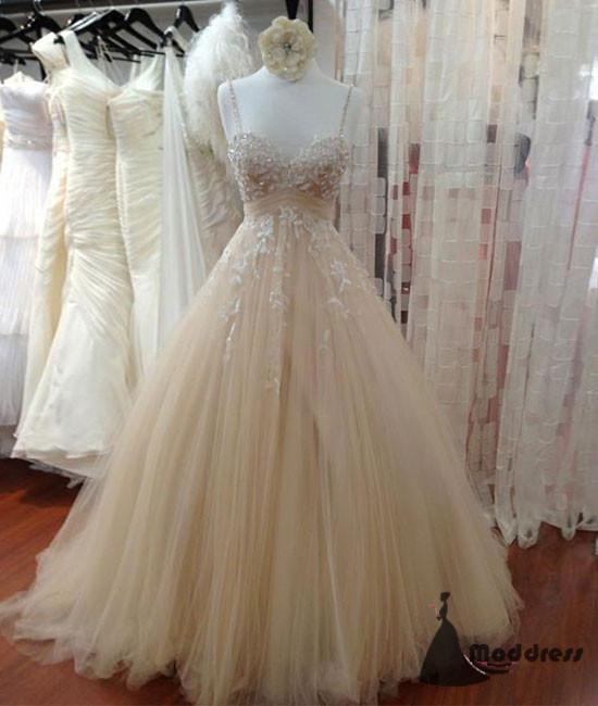 Sexy Long Prom Dress Applique Tulle Evening Dress Sweetheart Lace Wedding Dress Formal Dress,HS452