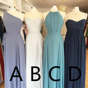Simple Long Bridesmaid Dresses Chiffon Bridesmaid Dresses