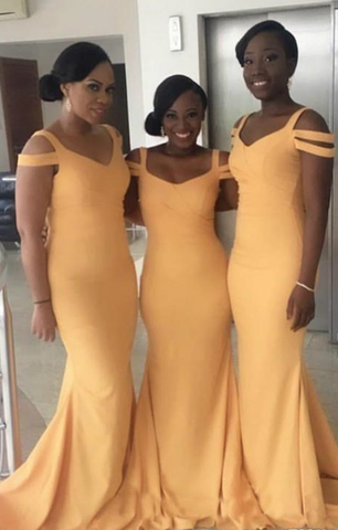 Simple Long Bridesmaid Dresses Mermaid Bridesmaid Dresses