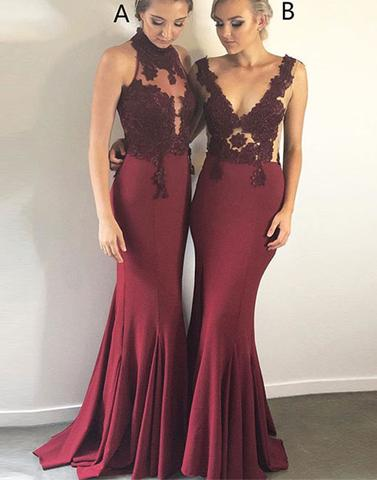 Stylish Long Bridesmaid Dresses Applique Bridesmaid Dresses Mermaid Bridesmaid Dresses