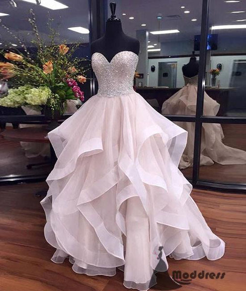 Unique Long Prom Dress Sweetheart Beading Evening Dress Ball Gowns Formal Dress,HS456