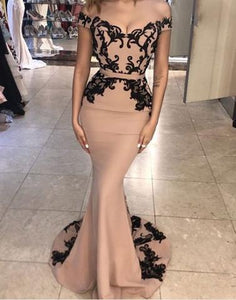 Unique mermaid lace off shoulder long prom dress, lace evening dress sexy cocktail dress
