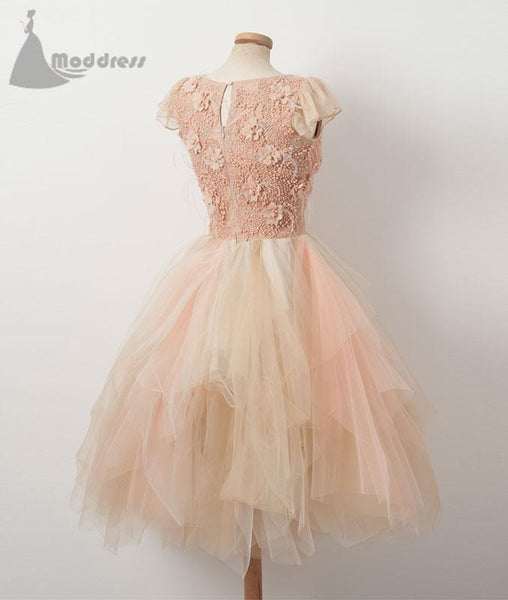 Beaded short homecoming dress scoop notmatched short prom dress,HS341