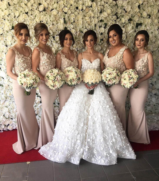 charming long elegant mermaid Cheap Bridesmaid Dresses 2017,BD7305