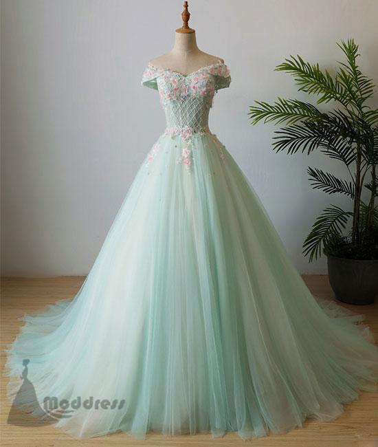 elegant applique wedding dress off the shoulder beading long prom dress tulle evening dress,HS360