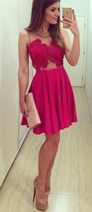 cheap hot pink short homecoming dress, BD39759