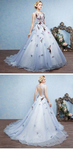 fairy princess wedding dress lace a-line long prom dress,formal evening dress,HS299
