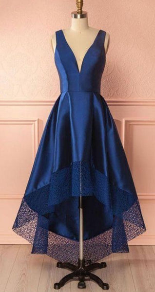 high-low v-neck homecoming dress sleeveless bridesmaid dress v-neck a-line prom dress,HS249