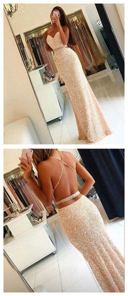 new arrival prom dress sequins long evening dress backless prom gowns,HS118