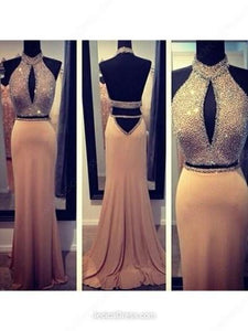 two pieces prom dress, long prom dress, sexy prom dress, sexy prom dress, open back evening dress, BD5226