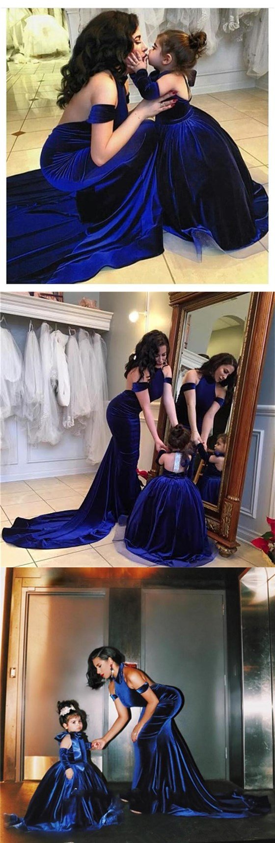 sexy mermaid prom dress halter backless evening dress royal blue prom gowns,HS099