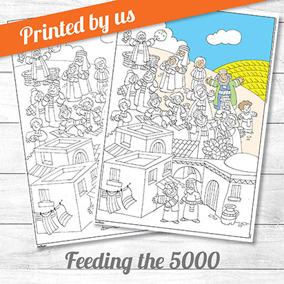 Feeding the Five Thousand <p>colouring poster