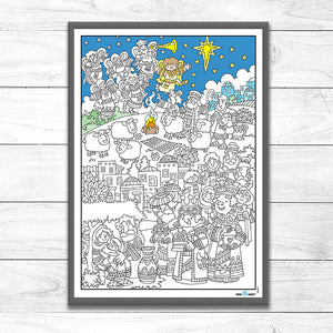 Colouring Poster <p> The Christmas Story