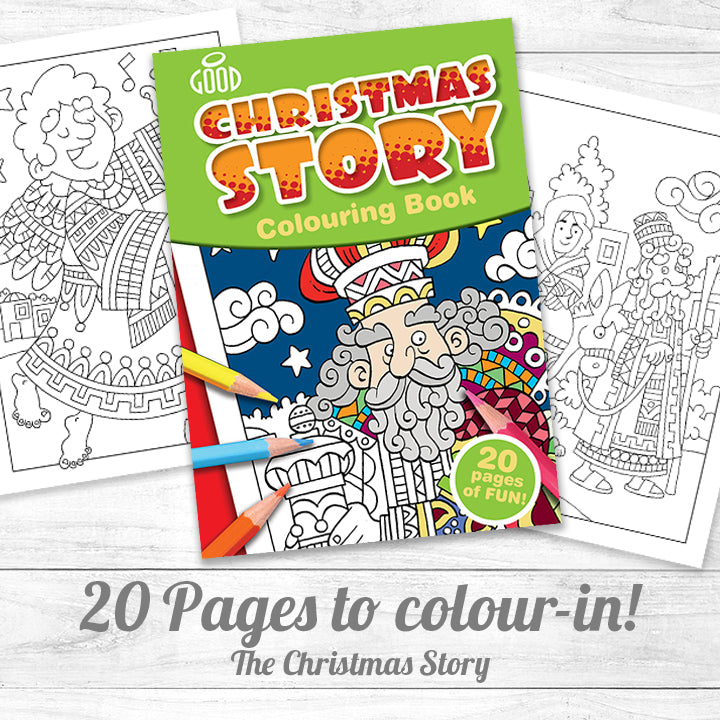 Colouring Book <p> The Christmas Story