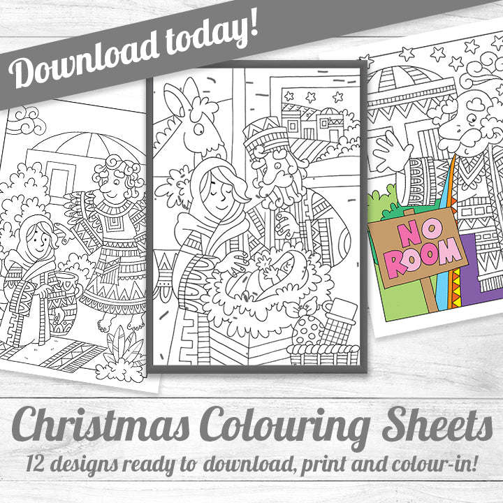 Downloadable colouring sheets