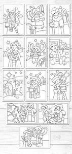 Downloadable colouring sheets <p> for younger children
