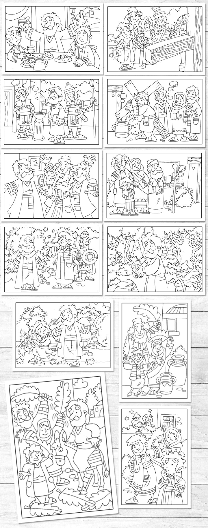 Easter colouring sheets <p> (downloadable)