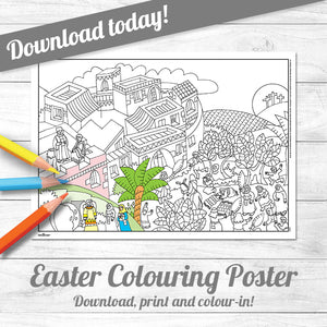 Easter Colouring Poster <p> download