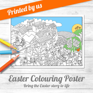Easter Colouring Poster