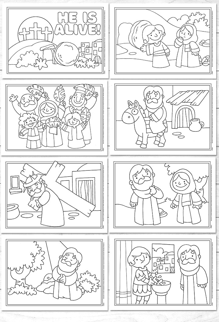 Easter colouring sheets for younger children <p> (downloadable)