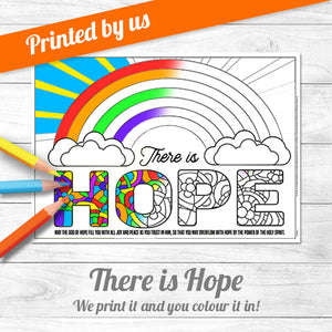 There is Hope Colouring Poster