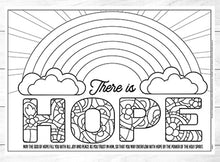 There is Hope Colouring Poster <p> download