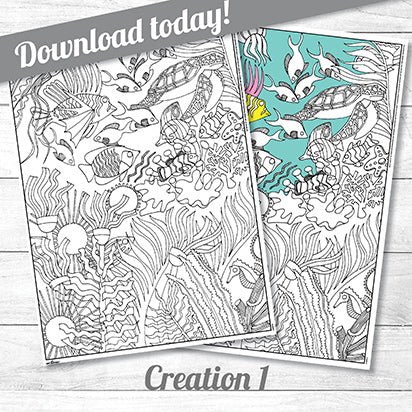 Creation One<p>colouring poster