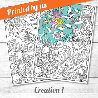 Creation One <p>colouring poster