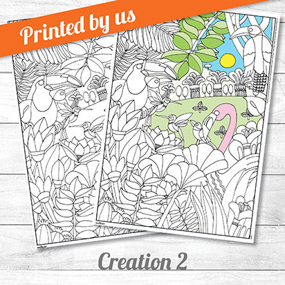 Creation Two <p>colouring poster