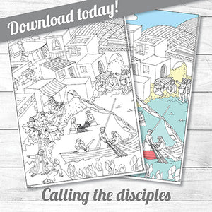 Calling the Disciples<p>colouring poster