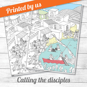 Calling the Disciples <p>colouring poster